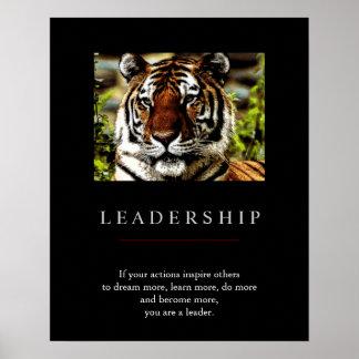 Poster de motivación único de moda del tigre de la
