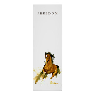 Poster de motivación único vertical del caballo de