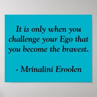 Poster de motivación valiente