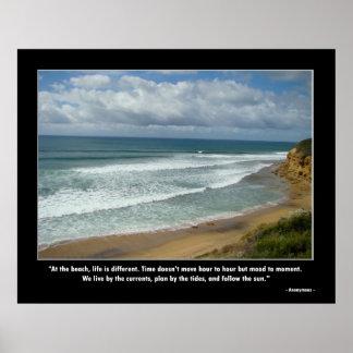 Poster de motivación - vida en la playa