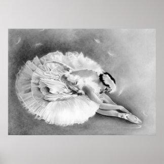 Poster de muerte del cisne de la bailarina
