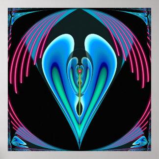 Poster de neón del corazón
