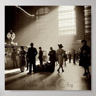 Poster de New York City del vintage