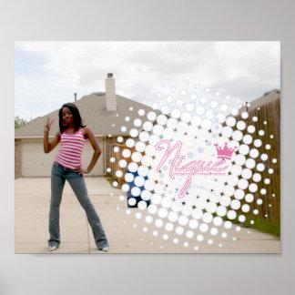 Poster de Nique - rosa/blanco/azul Póster