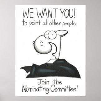 Poster de nombramiento del reclutamiento del