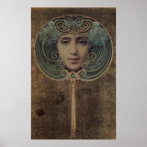 Poster de Nouveau del arte de Louis Welden Hawkins
