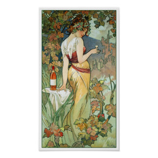 Poster de Nouveau del arte de Mucha: Coñac