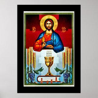 Poster de Nouveau del arte del icono de la eucaris