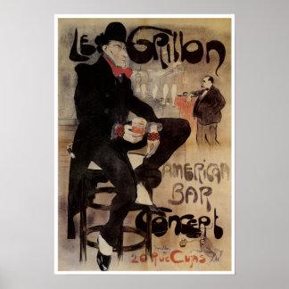 Poster de Nouveau del arte del vintage