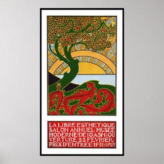 Poster de Nouveau del arte:  La Libre Esthetique