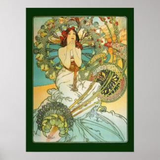 Poster de Nouveau Monte Carlo del arte de Mucha