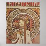 Poster de Nouveau Mucha Trappestine del arte del v