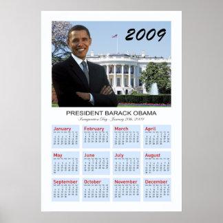 Poster de Obama - calendario de pared 2009