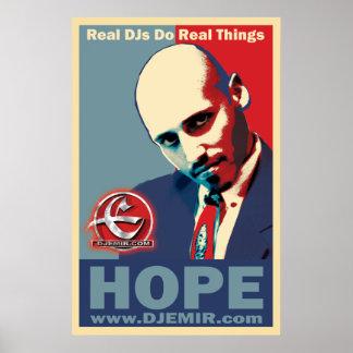 Poster de Obama de la esperanza del emir de DJ
