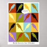 Poster de Obama del amor de los pájaros