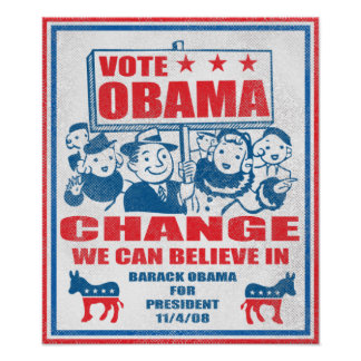 Poster de Obama del voto