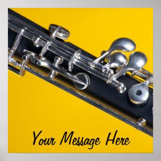 Poster de Oboe en fondo amarillo