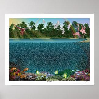"""Poster de ojo mágico 20"""" del """"arrecife de coral"""""""