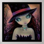 Poster de ojos brillantes del arte de la fantasía