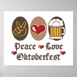 Poster de Oktoberfest del amor de la paz