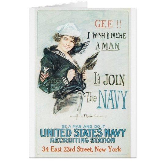 Poster de Old Navy circa 1918 Tarjeta De Felicitación