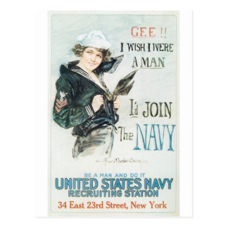 Poster de Old Navy circa 1918 Tarjetas Postales