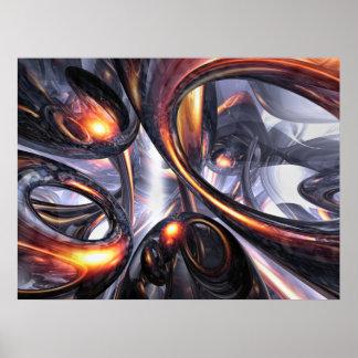 Poster de ondulación del extracto de la fantasía póster