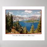 Poster de Oregon del lago crater