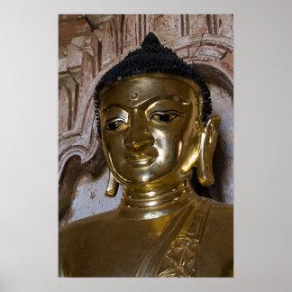 Poster de oro de Buda