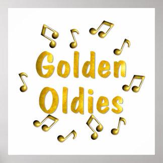 Poster de oro de los Oldies