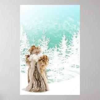Poster de oro de Papá Noel del traje