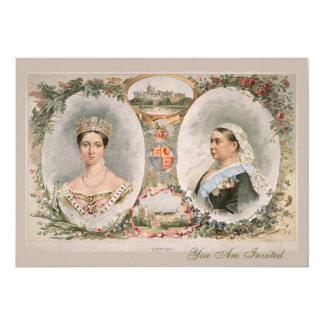 Poster de oro del jubileo de la reina Victoria Anuncios