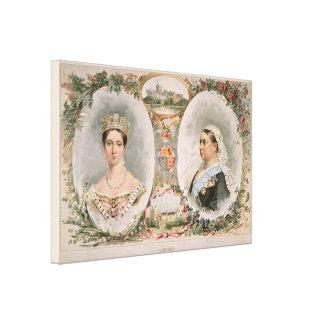 Poster de oro del jubileo de la reina Victoria Impresion De Lienzo