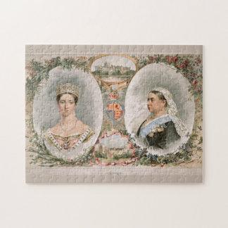 Poster de oro del jubileo de la reina Victoria Rompecabezas