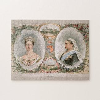 Poster de oro del jubileo de la reina Victoria Rompecabezas Con Fotos