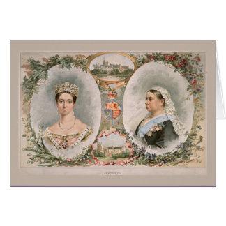 Poster de oro del jubileo de la reina Victoria Felicitación