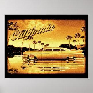 poster de oro del limo de California