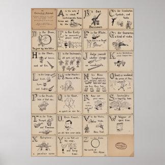 Poster de orquesta del alfabeto