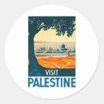 Poster de Palestina de la visita Pegatina Redonda