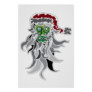 Poster de Papá Noel del zombi