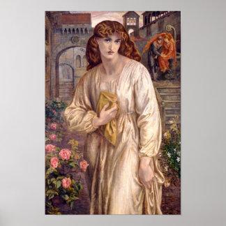 Poster de papel de tarjetas de Rossetti Beatriz