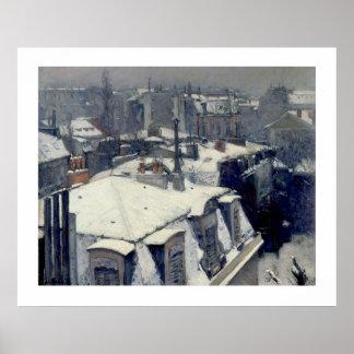 Poster de París Caillebotte de los tejados del inv