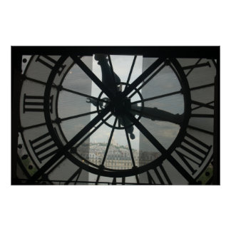 Poster de París del reloj de Orsay