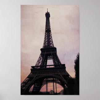 Poster de París del vintage