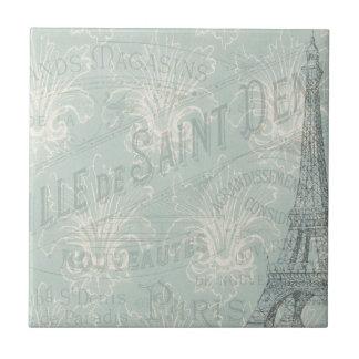 Poster de París del vintage Azulejo Cuadrado Pequeño
