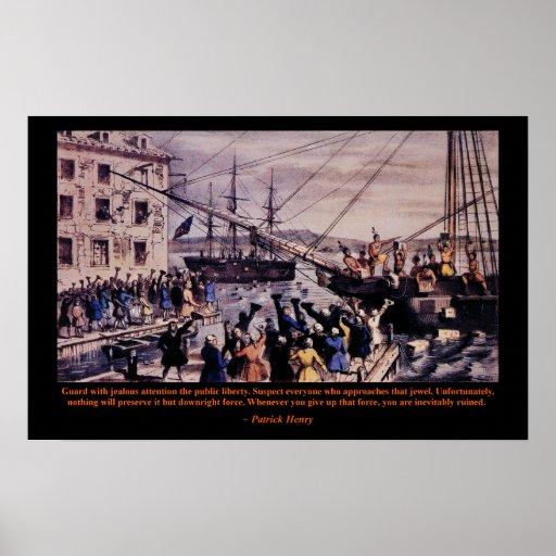 Poster de Patrick Henry de la fiesta del té Póster