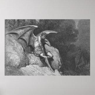 Poster de pensamiento de Satan Póster