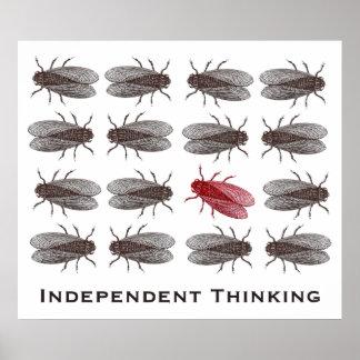 Poster de pensamiento independiente para una ofici