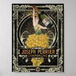 Poster de Perrier Champán del vintage