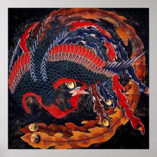 Poster de Phoenix del japonés de Hokusai